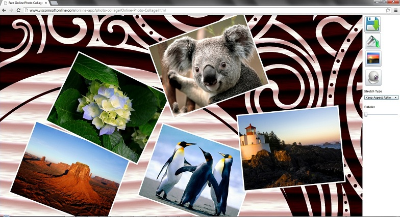 Windows 7 Free online Photo Collage 2.0 full