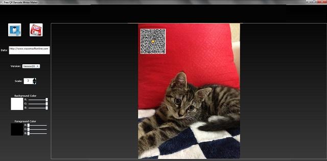 Free QR Barcode Generator for Window full screenshot